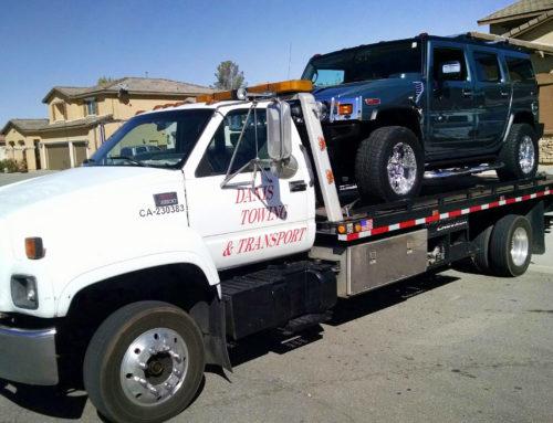 Hummer Transport to Victorville Transmission Shop