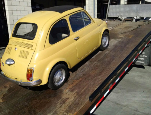 Classic Car Transport: A 1975 Fiat 500 Arrives from Italy